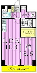 東京都足立区椿1丁目の賃貸マンションの間取り