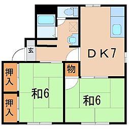647ファミュー[101号室]の間取り