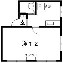 ロイヤルマツイ[3階]の間取り