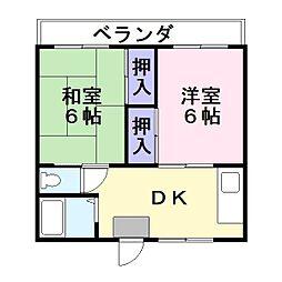 芝園マンション[3階]の間取り