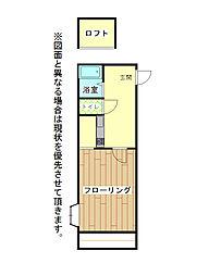 オアシス城野B棟[2階]の間取り