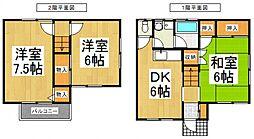 [テラスハウス] 埼玉県志木市上宗岡2丁目 の賃貸【/】の間取り