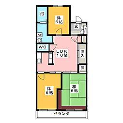 オーシャン61[5階]の間取り