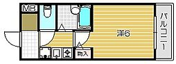 大阪府高槻市日向町の賃貸マンションの間取り