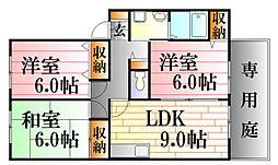 メゾンドジュール[1階]の間取り
