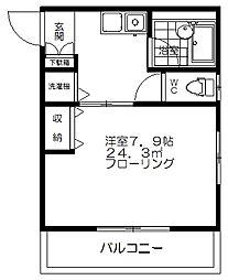 渓山荘[304号室]の間取り