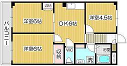 ロイヤルハイツ吉田[1階]の間取り