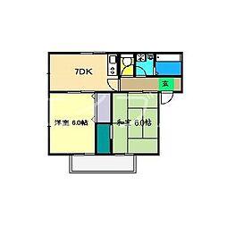 ヒロハイツIII[1階]の間取り