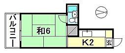 岩崎町マンション[101 号室号室]の間取り
