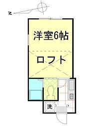 ガーデンコート豊田[201号室]の間取り