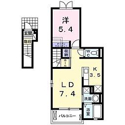 ラ・ベレッツァ[2階]の間取り