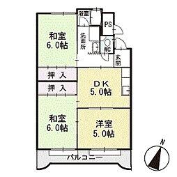 マンション光 3階[B3号室]の間取り