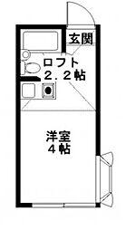 東京都豊島区巣鴨3の賃貸アパートの間取り