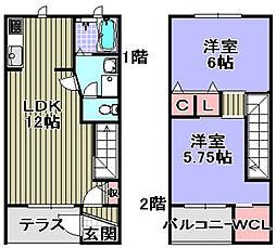 [タウンハウス] 大阪府岸和田市尾生町3丁目 の賃貸【/】の間取り