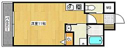 HILLS六ツ門[5階]の間取り