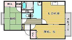 カサグランデ壱番館[1階]の間取り