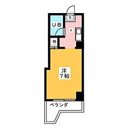 OS・SKYマンション浅間町[3階]の間取り