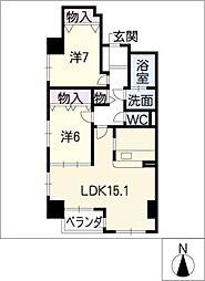 サムティ イースト白壁[8階]の間取り