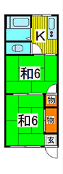 第2稲垣荘[2階]の間取り