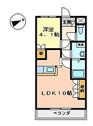 イーストリバー2[1階]の間取り