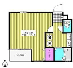 東京都新宿区若葉1丁目の賃貸マンションの間取り