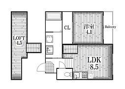 Clover Court OZONE[1階]の間取り