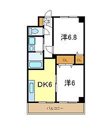 兵庫県高砂市緑丘2丁目の賃貸マンションの間取り