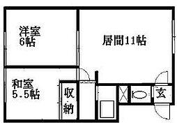 北海道札幌市豊平区月寒東二条18丁目の賃貸マンションの間取り