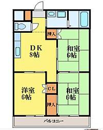 コーポエンゼル[1階]の間取り