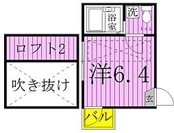 エルプレミア竹ノ塚[3階]の間取り