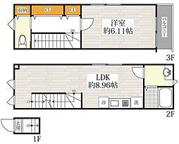 京急本線 青物横丁駅 徒歩2分の賃貸アパート 2階1LDKの間取り