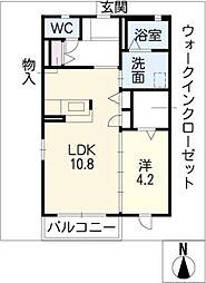 コンフォ−トサワ[2階]の間取り
