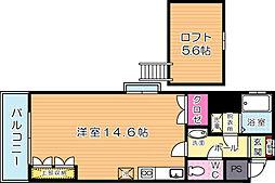 オリエンタル三萩野公園[801号室]の間取り