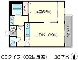 Ken&Lala[3階]の間取り