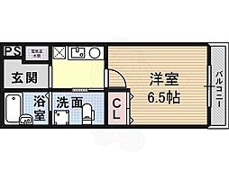 Osaka Metro御堂筋線 北花田駅 徒歩3分の賃貸マンション 3階1Kの間取り