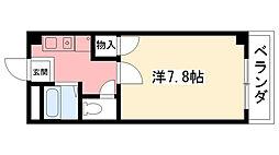 ドムール若山[3階]の間取り