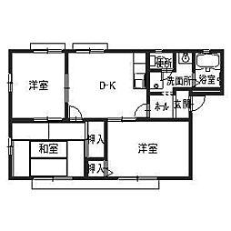 ファミーユ美津A[1階]の間取り