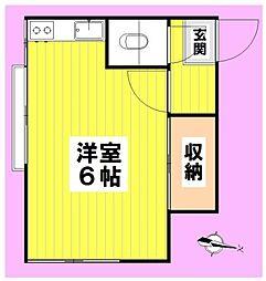 三井荘[103号室]の間取り