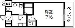 アーク吉田駅前 中新開2 吉田4分[8階]の間取り