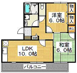 燦コーポB棟[1階]の間取り