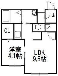 北海道札幌市豊平区月寒中央通3の賃貸アパートの間取り