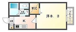 シャルム神木[2階]の間取り