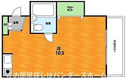 大阪府枚方市三矢町の賃貸マンションの間取り