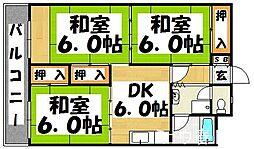 福岡県福岡市博多区光丘町1丁目の賃貸マンションの間取り