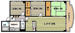 兵庫県神戸市東灘区鴨子ケ原1丁目の賃貸マンションの間取り