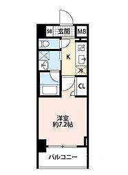 スプランディッド大阪WEST[8階]の間取り