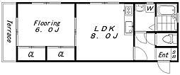 スリーキャッスル三宅(1516)[103号室]の間取り