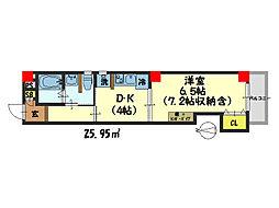 仮)西院平町新築マンション[103号室]の間取り