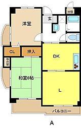 愛知県名古屋市東区筒井1丁目の賃貸マンションの間取り