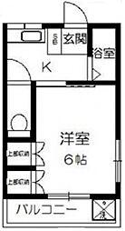 サニーハイツ榎本[2階]の間取り